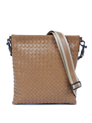 Bottega Veneta: cross body bags - Woven messenger bag