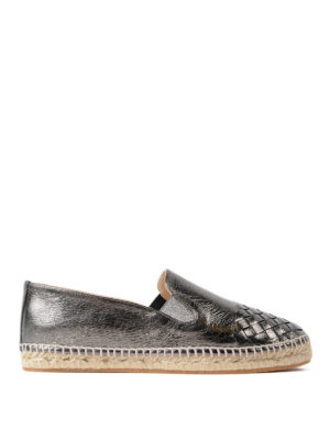 Bottega Veneta: espadrilles - Gala metallic leather espadrilles