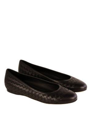 Bottega Veneta: flat shoes online - Woven nappa flat shoes