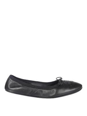 Bottega Veneta: flat shoes - PIC NIC INTRECCIATO BALLERINAS