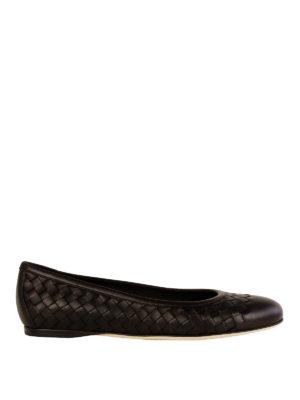 Bottega Veneta: flat shoes - Woven nappa flat shoes