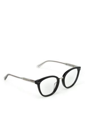 BOTTEGA VENETA: Occhiali - Occhiali da vista a occhi di gatto neri