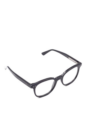 Bottega Veneta: glasses - Black acetate eyeglasses