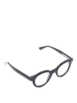Bottega Veneta: glasses - Black round eyeglasses