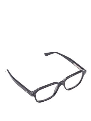 Bottega Veneta: glasses - Black squared eyeglasses