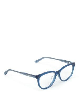 BOTTEGA VENETA: Occhiali - Occhiali da vista stondati blu