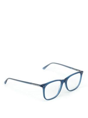 BOTTEGA VENETA: Occhiali - Occhiali da vista squadrati blu
