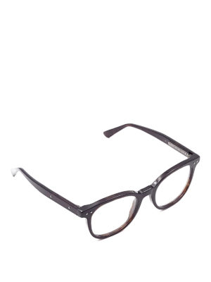 Bottega Veneta: glasses - Brown round eyeglasses