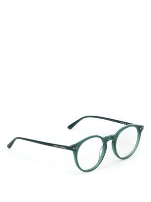BOTTEGA VENETA: Occhiali - Occhiali da vista tondi verdi