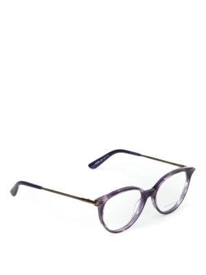 BOTTEGA VENETA: Occhiali - Occhiali da vista stondati viola