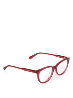 BOTTEGA VENETA: Occhiali - Occhiali da vista stondati rossi