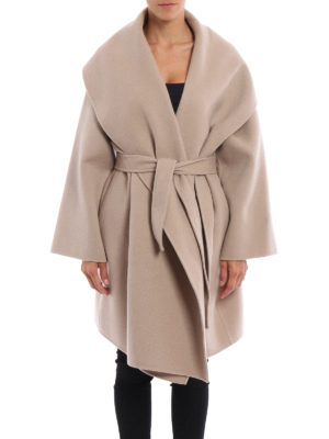 Bottega Veneta: knee length coats online - Oversize soft cashmere
