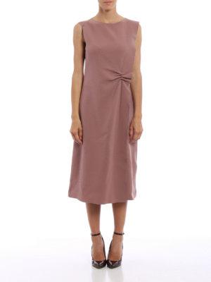 Bottega Veneta: knee length dresses online - Ruffle wool dress