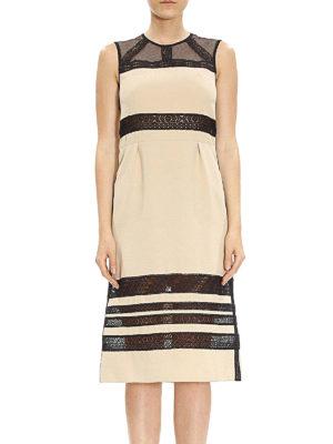 Bottega Veneta: knee length dresses online - Sleeveless lace detail dress