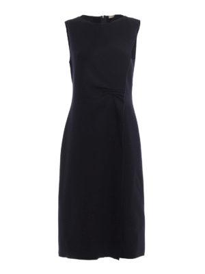 Bottega Veneta: knee length dresses - Ruffle wool dress