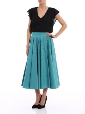Bottega Veneta: Knee length skirts & Midi online - Studded stretch cotton circle skirt