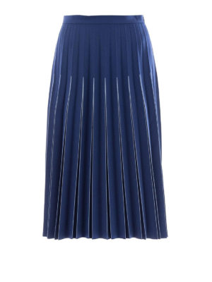 Bottega Veneta: Knee length skirts & Midi - Pleated wool midi skirt