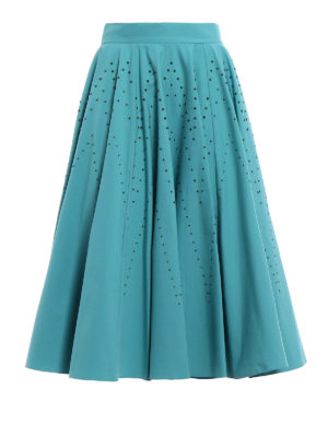 Bottega Veneta: Knee length skirts & Midi - Studded stretch cotton circle skirt