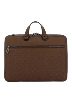 BOTTEGA VENETA  borse da ufficio - Borsa Business in Intrecciato VN marrone de934c38833