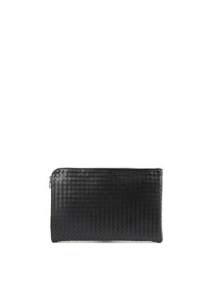 Bottega Veneta: laptop bags & briefcases - Woven leather document case