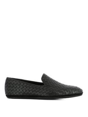 Bottega Veneta: Loafers & Slippers - Fiandra black Intrecciato loafers