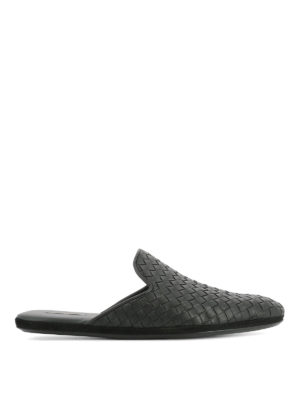 Bottega Veneta: Loafers & Slippers - Fiandra Intrecciato slippers