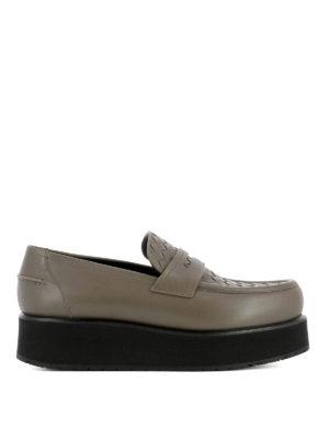 Bottega Veneta: Loafers & Slippers - Intrecciato detail loafers