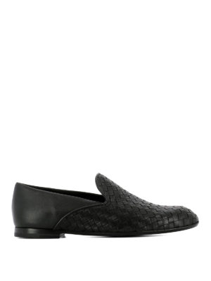 Bottega Veneta: Loafers & Slippers - Intrecciato napa front loafers