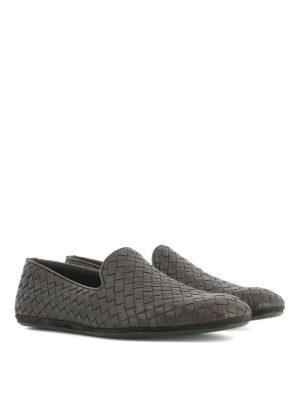 Bottega Veneta: Loafers & Slippers online - Fiandra Intrecciato leather loafers