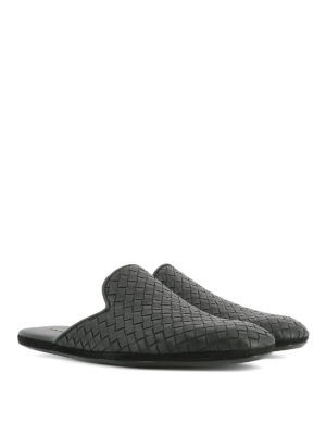 Bottega Veneta: Loafers & Slippers online - Fiandra Intrecciato slippers