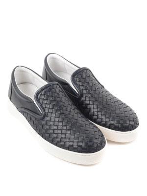 Bottega Veneta: Loafers & Slippers online - Woven leather slip-ons