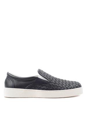 Bottega Veneta: Loafers & Slippers - Woven leather slip-ons