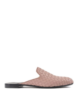 Bottega Veneta: Loafers & Slippers - Woven leather slippers