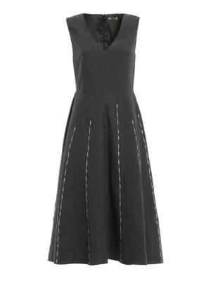 Bottega Veneta: maxi dresses - Cotton and linen blend maxi dress