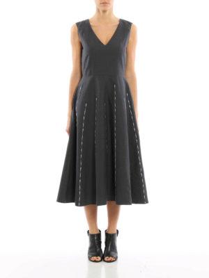 Bottega Veneta: maxi dresses online - Cotton and linen blend maxi dress
