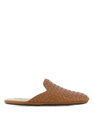 Bottega Veneta: mules shoes - Fiandra light brown slippers