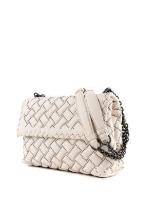 BOTTEGA VENETA: borse a spalla online - Borsa Olimpia piccola in nappa con borchie