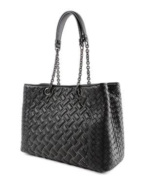 BOTTEGA VENETA: shopper online - Shopper in nappa con micro borchie