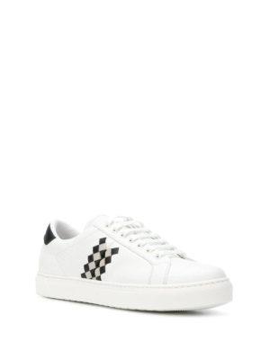 BOTTEGA VENETA: sneakers online - Sneaker in pelle bianca Bv Checker