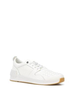BOTTEGA VENETA: sneakers online - Sneaker in nappa Intrecciato bianco Bv Grand
