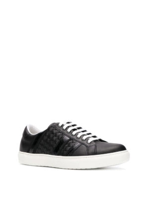 BOTTEGA VENETA: sneakers online - Sneaker in pelle nera Bv Tech Stripe