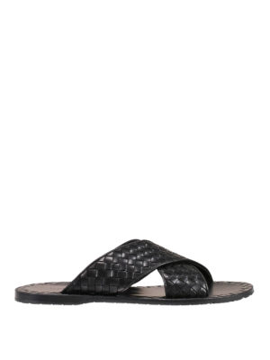 Bottega Veneta: sandals - Esher Intrecciato nappa sandals