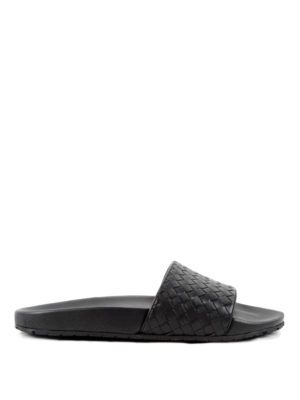 Bottega Veneta: sandals - Intrecciato leather sandals