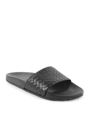 Bottega Veneta: sandals online - Intrecciato leather sandals