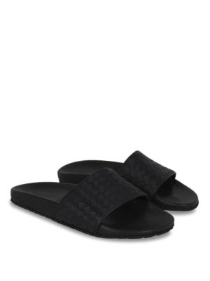 Bottega Veneta: sandals online - Lake Intrecciato sliders sandals