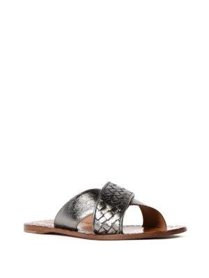 Bottega Veneta: sandals online - Ravello Intrecciato napa sandals