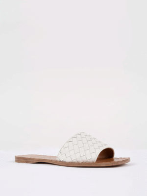 Bottega Veneta: sandals online - Ravello woven nappa sandals