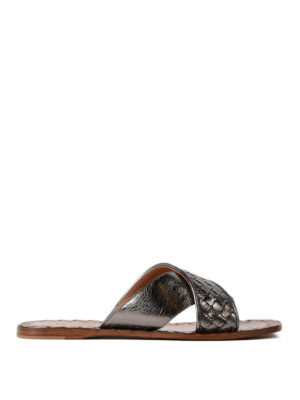 Bottega Veneta: sandals - Ravello Intrecciato napa sandals