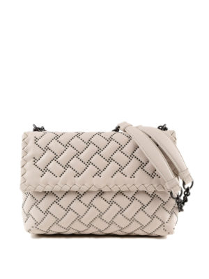 BOTTEGA VENETA: borse a spalla - Borsa Olimpia piccola in nappa con borchie
