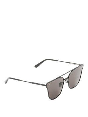 Bottega Veneta: sunglasses - Black metal sunglasses